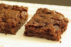 Ditch the boxed brownie mix! These Cocoa Brownies mix up quickly and taste amazing, full of chocolately flavor without the junk.