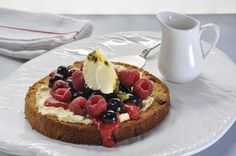 Mascarpone Pizza with Raspberry Coulis on http://www.sheridanrogers ...