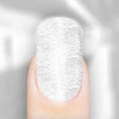 Big fan of lace! After I found some lace nail design, it's definitely true that lace can be everywhere! But I need to say that lace wedding dresses are still my favorites!!