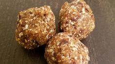 Vegan almond butter balls made with dates and coconut are a quick and easy way to satisfy your sweet tooth, especially if you follow the paleo diet.
