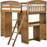 <strong>School House Student Loft Bed</strong> by NE Kids