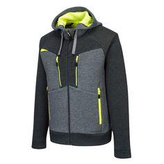 Sudadera elástica con capucha y cremallera DX4 Sport, Mens Sweatshirts, Stylish Outfits, Mens Fashion, Sweaters, Jackets, Hoodie, Cabin, Outdoor