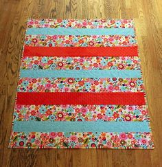 One Day Baby Quilt Tutorial | This super sweet baby quilt only takes one day to make!