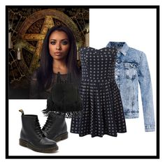 """Bonnie Bennett style."" by sole-rack on Polyvore featuring Superdry and Dr. Martens"