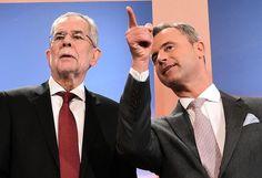 Stichwahl: Die Präsidentschaftskandidaten Alexander Van der Bellen und Norbert Hofer gehen am 22. Mai in die Stichwahl. Der FPÖ-Kandidat Hofer ist nach dem klaren Wahlsieg mit 36,4 Prozent der Favorit. Van der Bellen erreichte 20.4 Prozent der Stimmen und war damit Zweiter von den sechs Bundespräsidenten-Kandidaten.  Mehr Bilder des Tages auf: http://www.nachrichten.at/nachrichten/bilder_des_tages/  (Bild: APA)