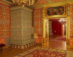 "exhibition ""stove tiles of Tsar Alexei Mikhailovich Palace"" in ""Kolomenskoye"" Museum-Reserve. Russian Architecture, 17th Century, Moscow, Tiles, Museum, City, Palaces, Stove, Castles"