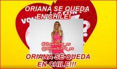 #VolveríascntuEX? El Manager de #Oriana habla del futuro de la concursante en chile.