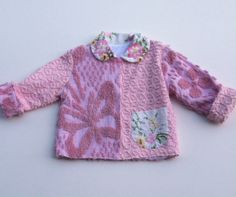 Vintage Chenille Jacket Size 4 – Lavender and Old Lace