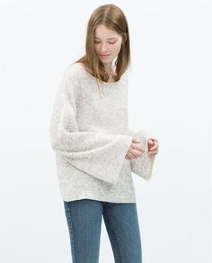 ZARA - NEW THIS WEEK - BELL SLEEVE SWEATER