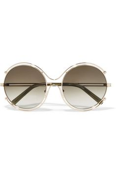 503884d00c4 Chloé - Isidora round-frame gold-tone and acetate sunglasses