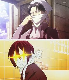 Noragami / Attack on Titan ~~ I blame the mega-talented Hiroshi KAMIYA for this! :: Cleaning fiends Yato and Levi