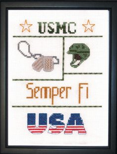 Marines Sampler - Mini Cross Stitch Kit