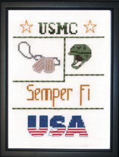 Marines Sampler - Mini Cross Stitch Kit