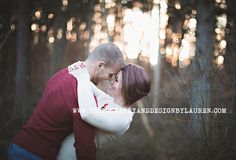 Photography & Design By Lauren- an on location photographer specializing in Weddings, Couples, High School Seniors, Families and Models based in Indiana 502.230.1907 | A winter sunset engagement session | Clark State Forest, Henryville, IN