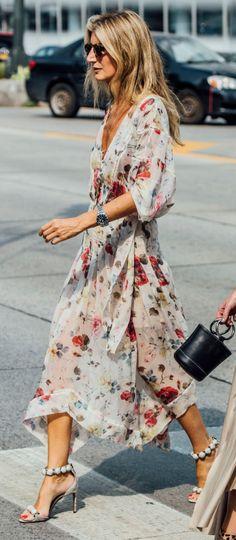 Chiffon floral dress / spring