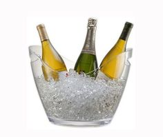 antique style pour champagne et vin Seau à glace sur pied 26cm