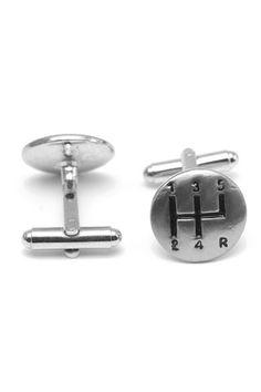 gear knob cufflink