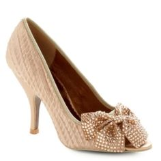ModCloth Poetic License Little Bow Peep Toe Heel in Gold #Swapdom