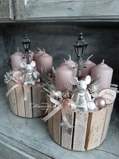 Pink Christmas Decorations, Christmas Floral Arrangements, Custom Christmas Ornaments, Christmas Ornament Crafts, Christmas Diy, Christmas Wreaths, Christmas Candle Holders, Victorian Christmas, Yule