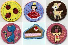 Felt Creations Etsy shop does beautiful embroidery work on felt