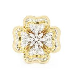<strong>4</strong> - 3/4ct Diamond 9K Gold Tomas Rae Ring