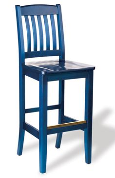Bulldog Wood Barstool Shire Dark Blue Choose From 28 Finishes
