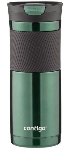Contigo SnapSeal Vacuum-Insulated Stainless Steel Travel Mug, 20-Ounce, Greyed Jade