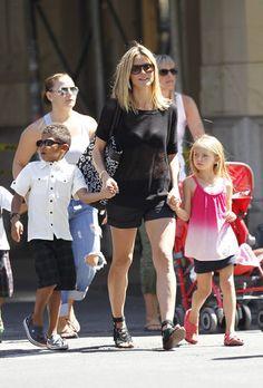 Heidi Klum with her children, Leni and Henry