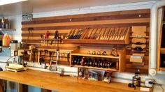 Com woodworking community workshop storage, garage workshop, wo Workshop Storage, Workshop Organization, Garage Workshop, Garage Organization, Woodworking Workshop, Woodworking Shop, Woodworking Projects, Woodworking Bench, French Cleat System