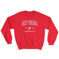 Vintage West Virginia WV Adult Sweatshirt (Unisex)