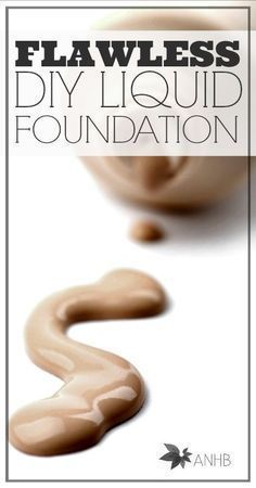 Flawless DIY liquid foundation. I've been looking for a recipe like this forever! DIY Beauty Tips, DIY Beauty Products #DIY
