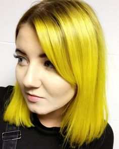 Glossy+Golden+Yellow+Hair