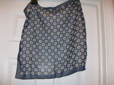 Vintage Blue Sunflower Scarf MMC28 20 OFF  by HeartsMaddness, $5.00