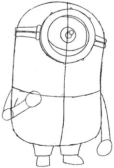 How to Draw Kevin the Minion from Despicable Me with Easy Step by Step Drawing Tutorial
