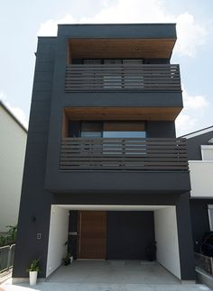 new Ideas for exterior facade design modern architecture black house Best Picture For facade architecture For Your Taste You are looking for something, and it is going to Architecture Design, Facade Design, Contemporary Architecture, Exterior Design, Contemporary Design, Contemporary Building, Contemporary Furniture, Contemporary Stairs, Contemporary Cottage