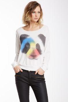 Panda Cut-Off Lounger Tee