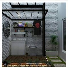 Cool 30 Charming Small Laundry Room Design Ideas For You. Outdoor Laundry Rooms, Tiny Laundry Rooms, Laundry Room Bathroom, Laundry Room Storage, Small Laundry Area, Laundry Rack, Bathroom Small, Home Room Design, House Design