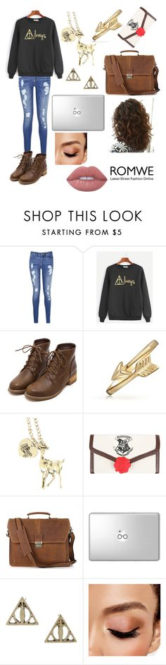 """""""Rowne Harry Potter Sweatshirt"""" by k-fashion02 ❤ liked on Polyvore featuring Tommy Hilfiger, Bling Jewelry, Warner Bros., Avon and Lime Crime"""