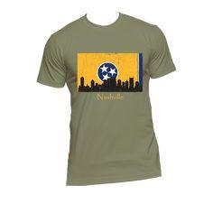 Nashville Skyline Yellow Men's Short Sleeve T-Shirt