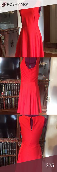 Dex fit & flare dress Dex Fit and Flare dress S/P  color red scoopneck, sleeveless, hand wash, line dry DEX Dresses Mini