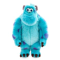 Disney Sulley Plush - Monsters, Inc. - Medium - 15 Inch: You'll never be blue with a big hug at the ready for our super-soft James P. Bright and silky faux fur highlights the oversize star of Disney Monsters Inc Toys, Disney Monsters, Disney Plush, Disney Toys, Disney Store Toys, Disney Babies, Walt Disney, Disney Pixar, Disney Stuffed Animals