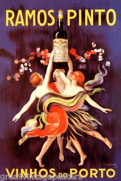 Shop for Vintage Art 'Ramos Pinto Vinhos do Porto' Canvas Wall Art. Get free delivery On EVERYTHING* Overstock - Your Online Art Gallery Store! Poster Art, Retro Poster, Kunst Poster, Art Posters, Vintage Wine, Vintage Ads, Unique Vintage, Wein Poster, Label Art