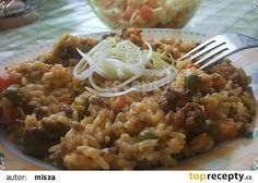 Rizoto v tlakovém hrnci. Fried Rice, Risotto, Fries, Ethnic Recipes, Nasi Goreng, Stir Fry Rice