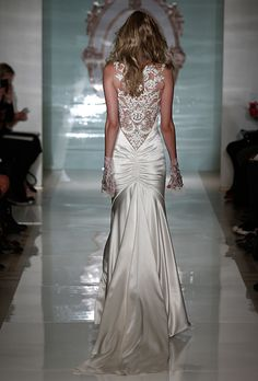 Brides.com: 25 New Wedding Dresses with Statement Backs. Wedding dress by Reem Acra  See more wedding dresses from Reem Acra's Spring 2015 collection.