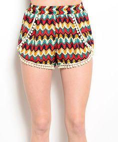 Another great find on #zulily! Red & Yellow Zigzag Shorts #zulilyfinds