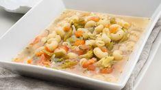 Sopa de verduras y pasta - Karlos Arguiñano en tu cocina - YouTube Pasta Salad, Potato Salad, Shrimp, Potatoes, Vegetables, Ethnic Recipes, Food, Youtube, Pasta Recipes