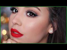 Classic Holiday Makeup Tutorial | #amariechristmas - YouTube