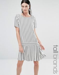Buy it now. Y.A.S Tall July Drop Hem Striped Pleated Dress - Multi. Dress by Y.A.S. Tall, Printed woven fabric, Round neckline, Button keyhole back, Loose fit � falls loosely over the body, Machine wash, 100% Polyester, Our model wears a UK S/ EU S/ US XS and is 183cm/6'1� tall. ABOUT Y.A.S. TALL Y.A.S. �your apparel and style� - sees the successful Vero Moda Very transformed into a contemporary, fashion-forward brand. With the same understated cool as the mainline, Y.A.S. Tall adds t...