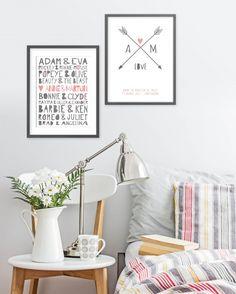 Valentijn: verras je lief met jouw tekst aan de muur. Leuke teksten/posters van Printcandy naar jouw eigen wens gemaakt. Meer inspiratie op http://www.interieurinspiratie.nl/