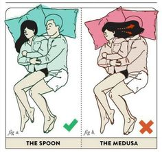 Hahahahahaha!!! The Best and Worst Sleeping Positions For Couples
